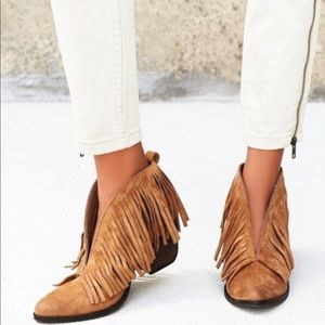 Coconuts By Matisse Fringe Ankle Booties New